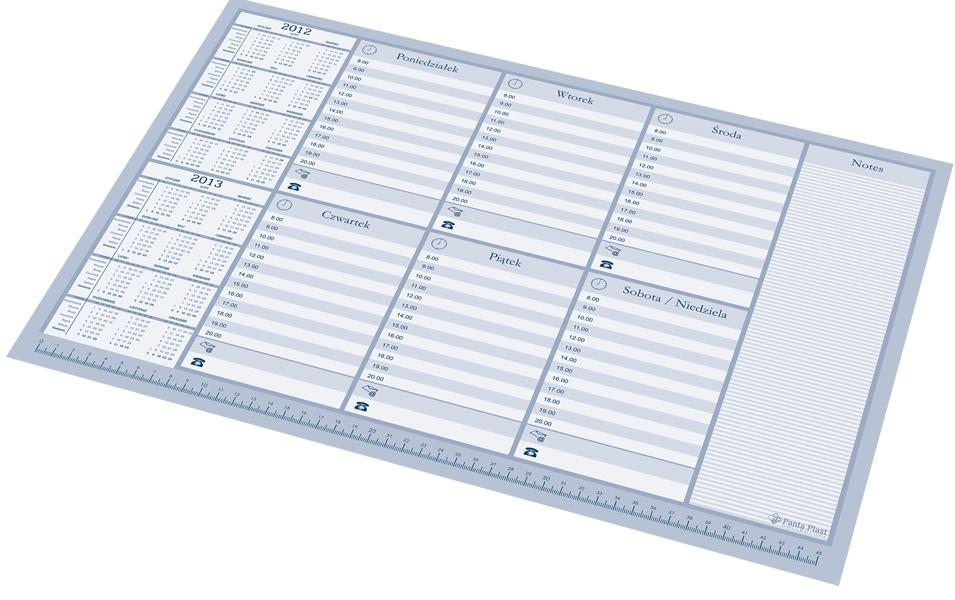 07fa427e0f34 Kalendarz Biuwar Wkład Plan Tygodnia PANTA PLAST